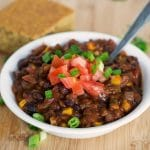 Easy Black Bean and Corn Chili