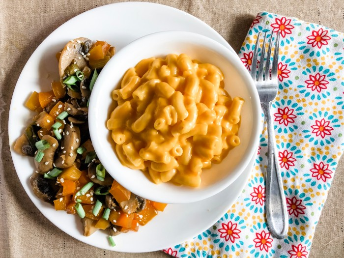 Veggie Stir Fry with Mac and Cheese