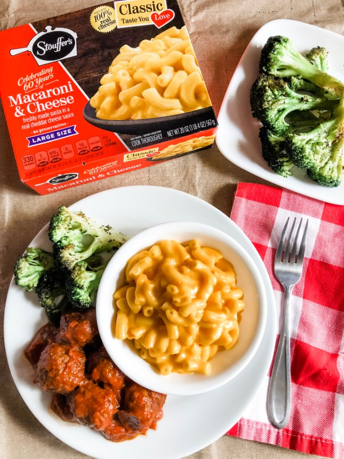 Stouffers Mac & Cheese makes meatless meals simple