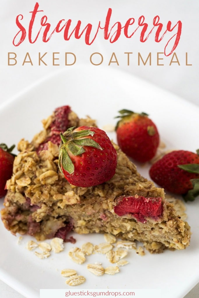 This delicious and healthy strawberry baked oatmeal is plant-based and vegan-friendly. It makes a great breakfast for a rushed morning when made ahead of time!