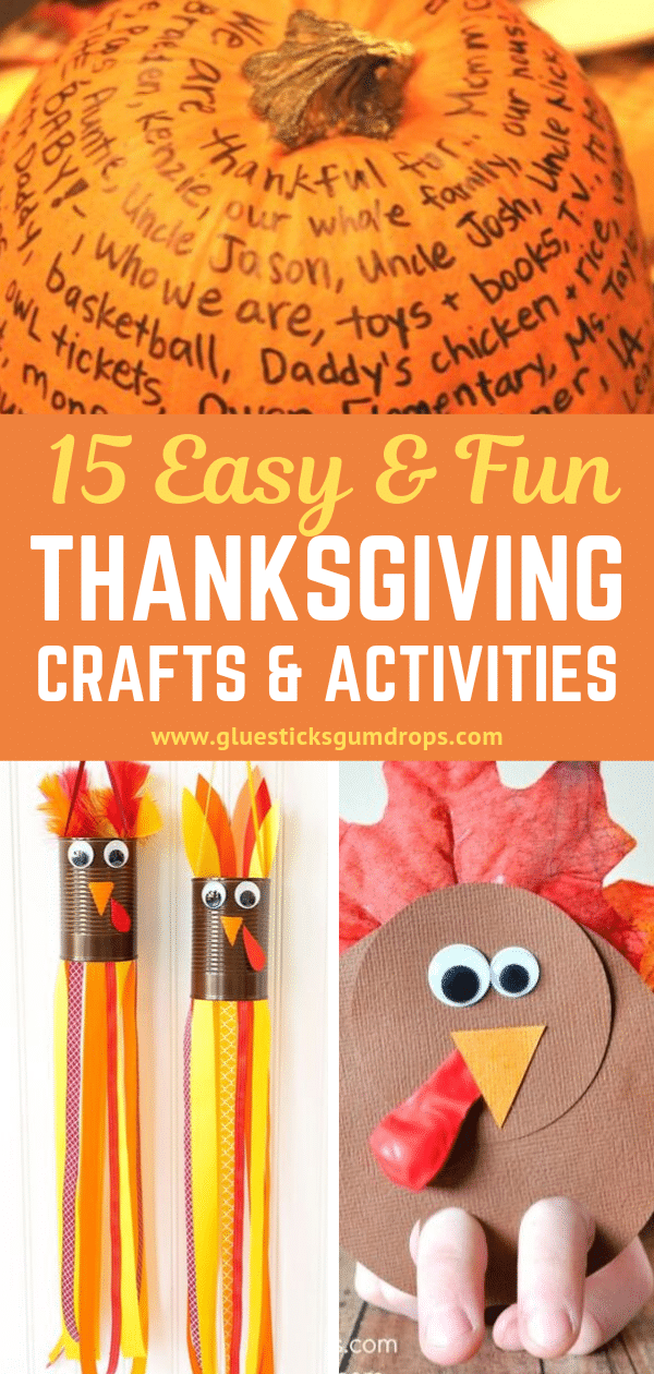 15 Easy and Fun Thanksgiving Crafts for Kids