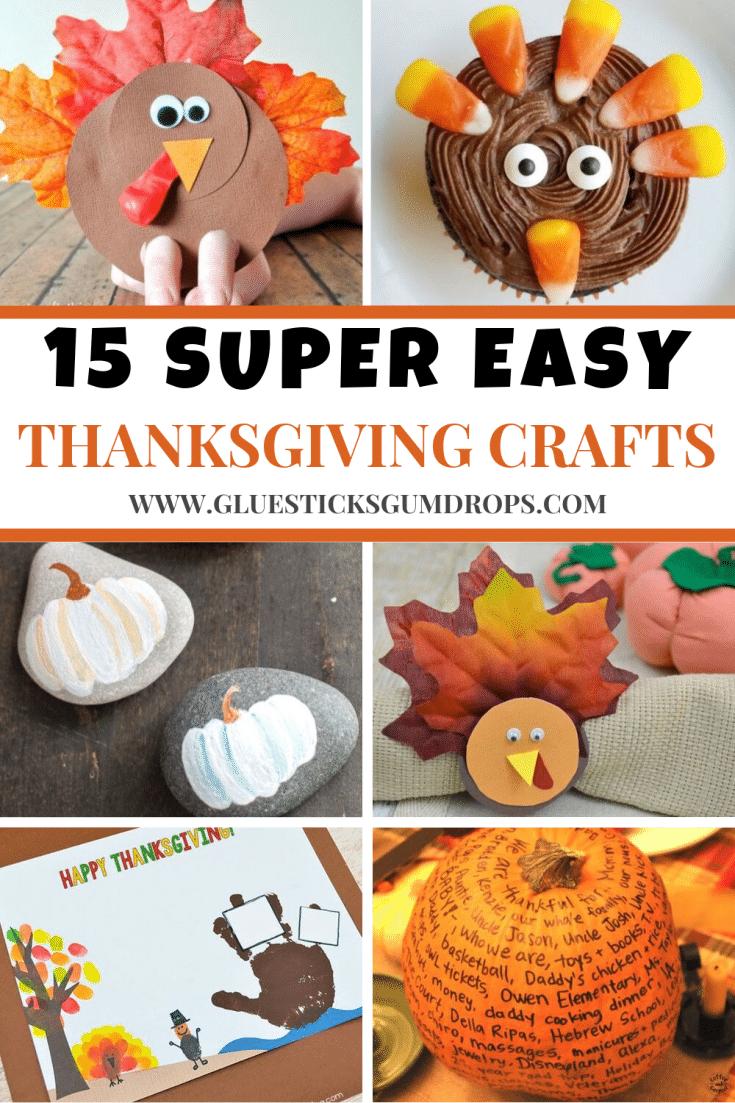 15 Super Easy Thanksgiving Kids Crafts