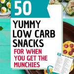 pin image for 50 low carb snacks for when you get the munchies