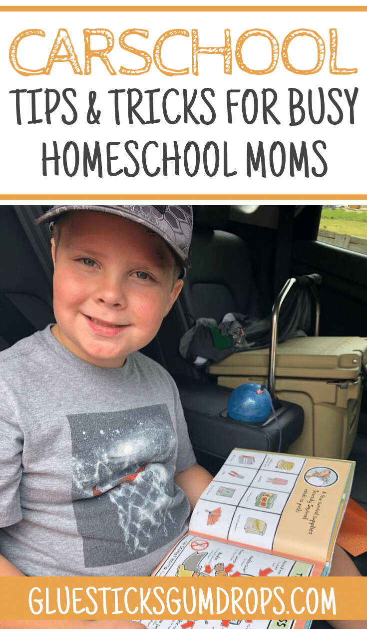 Carschool Tips for Busy Homeschool Families - when learning needs to happen on the go!
