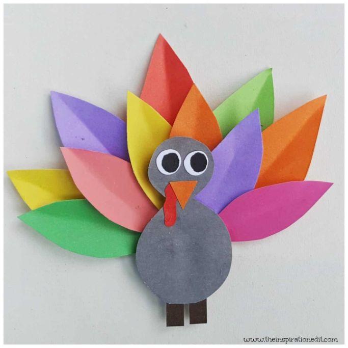 Rainbow Turkey Craft