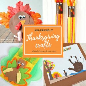 kid friendly thanksgiving crafts