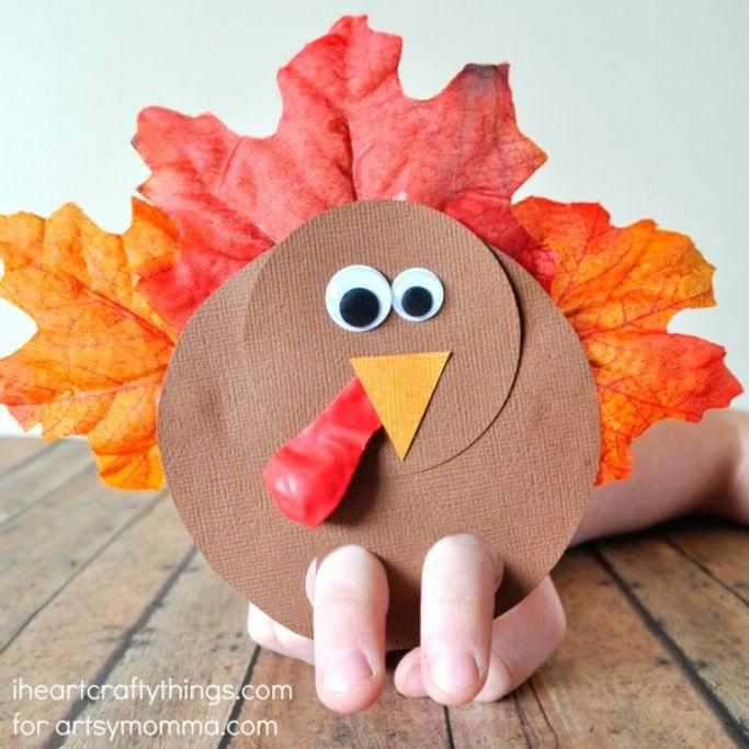 turkey finger puppets