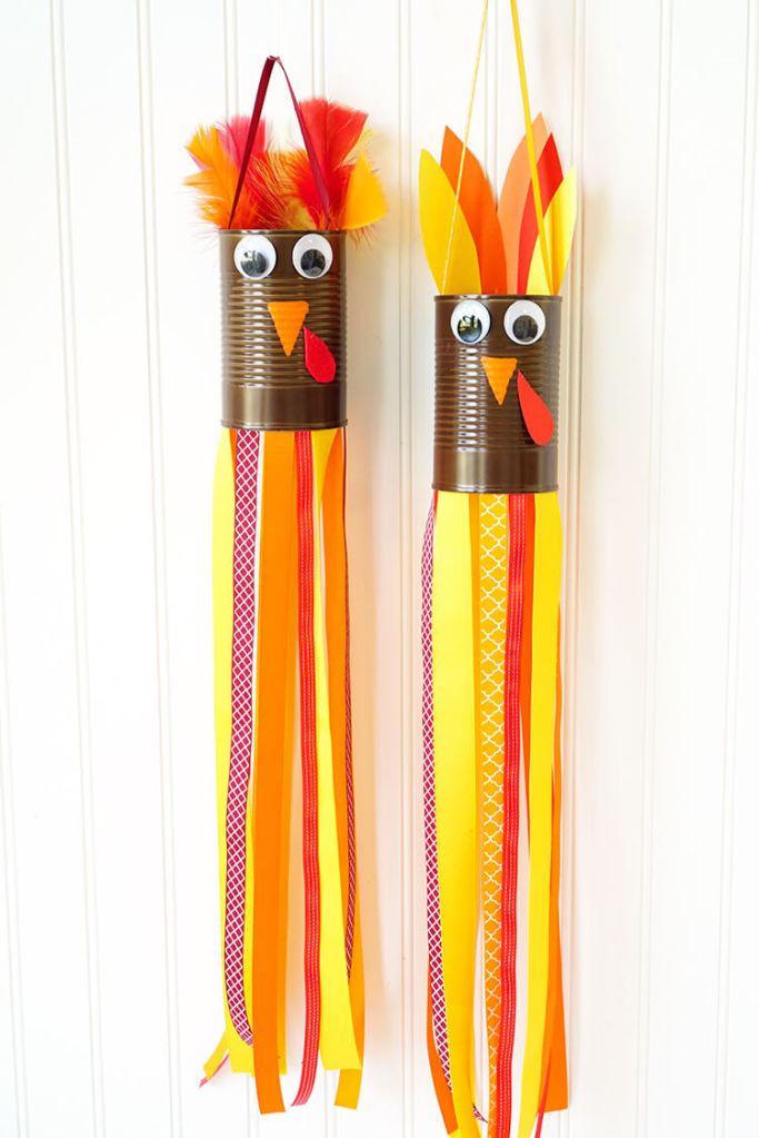 turkey windsock kids craft