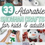 collage of snowman crafts