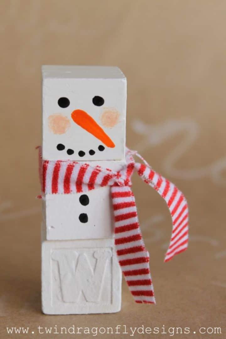 alphabet snowman blocks