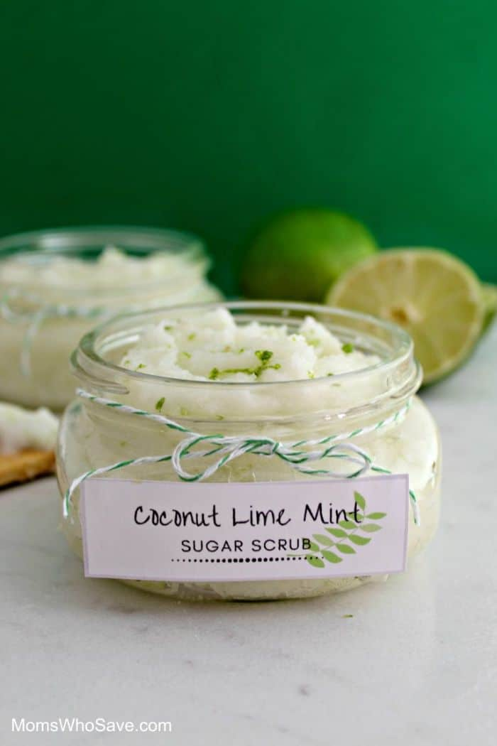 coconut lime mint scrub