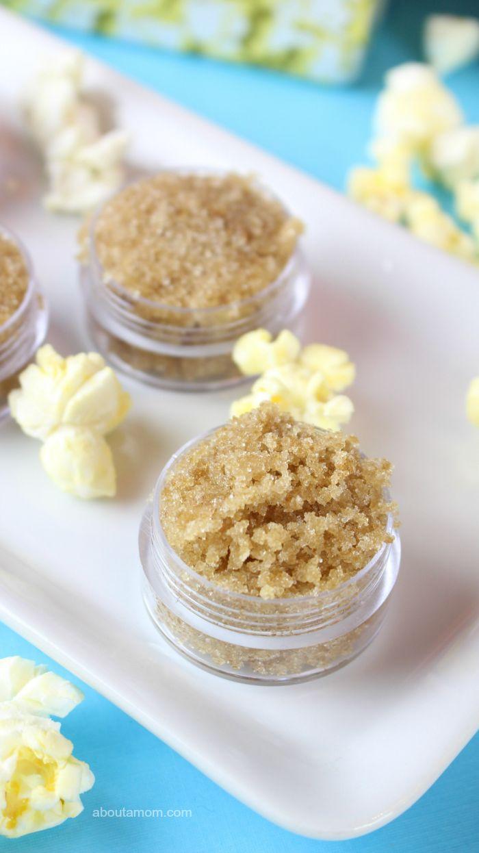 popcorn lip scrub