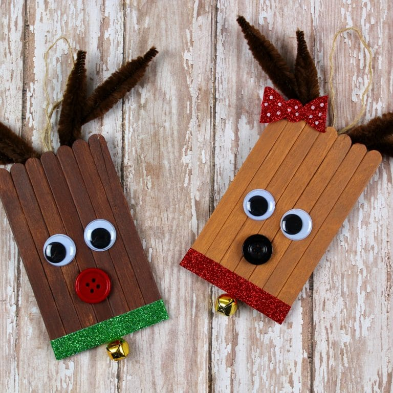 popsicle stick reindeer ornament feature