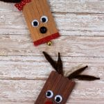 Adorable Popsicle Stick Reindeer Ornament for Kids to Make