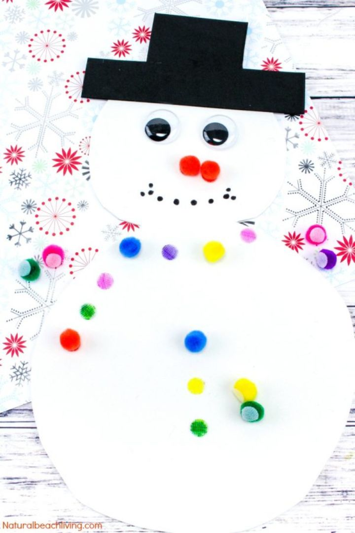 snowman color matching activity