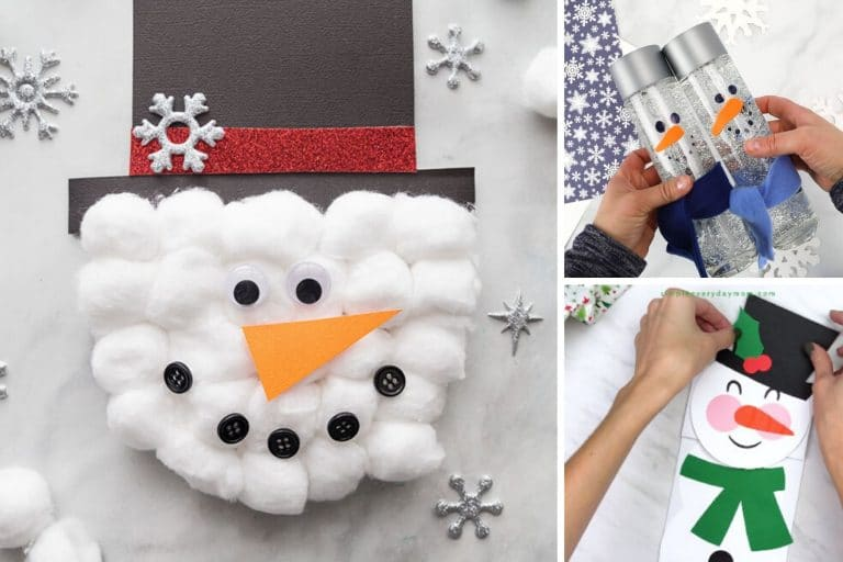 33 Cute Snowman Crafts for Kids and Grownups to Make This Winter