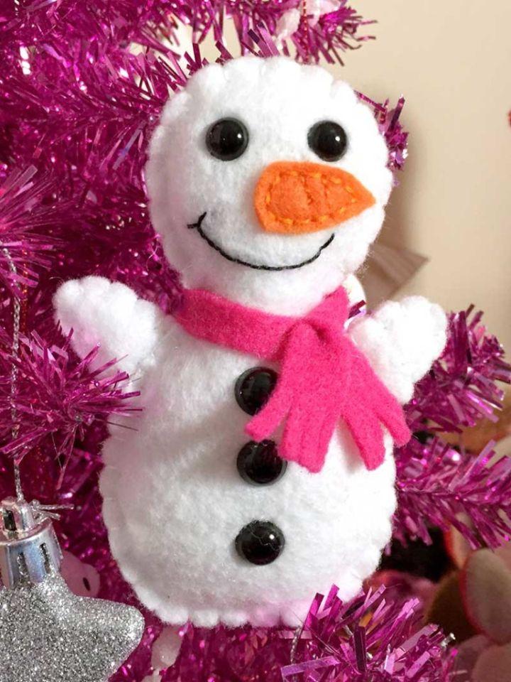 plush softie snowman easy sew craft