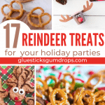 long collage of reindeer treats