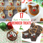 square collage of reindeer treats