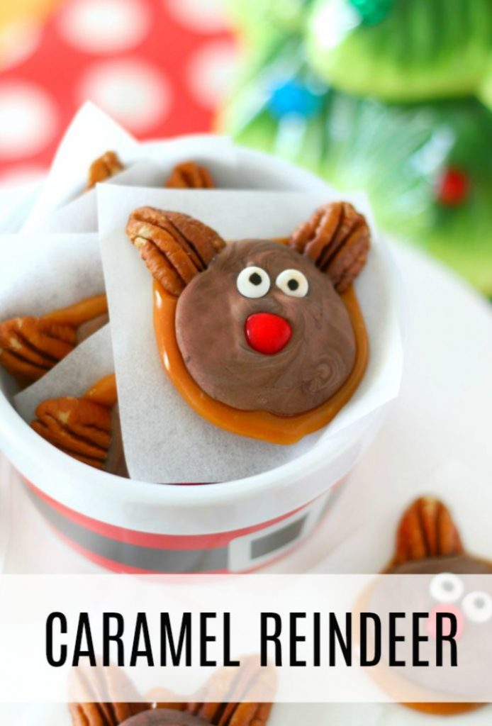 chocolate caramel reindeer clutsters