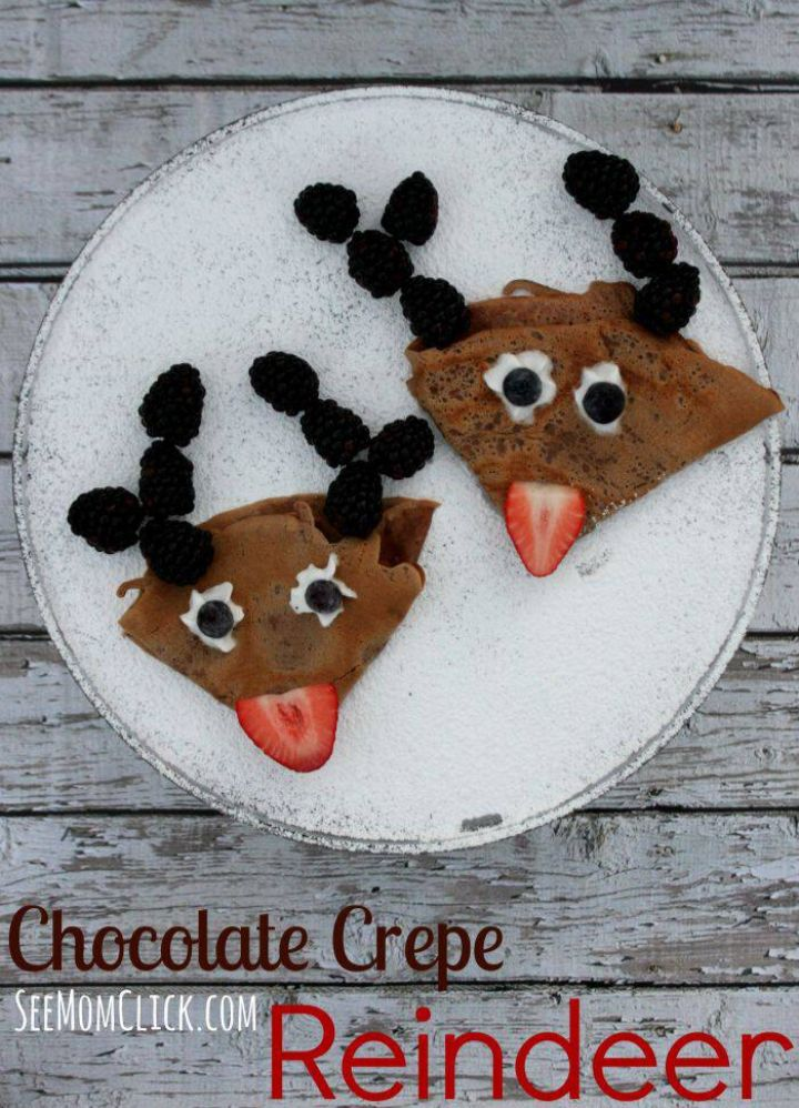 chocolate reindeer crepes