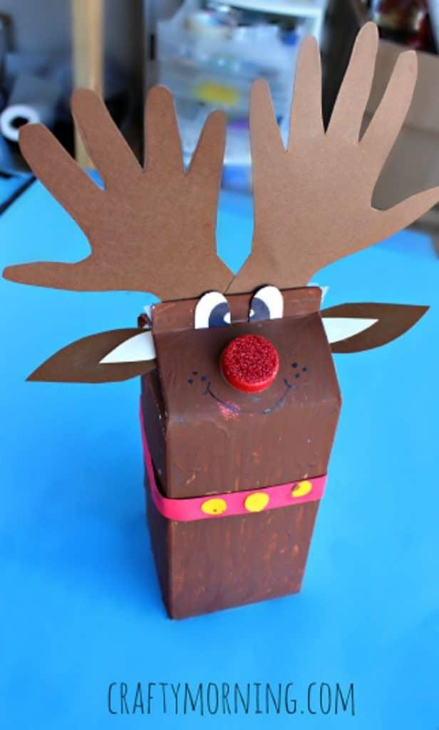 milk carton reindeer