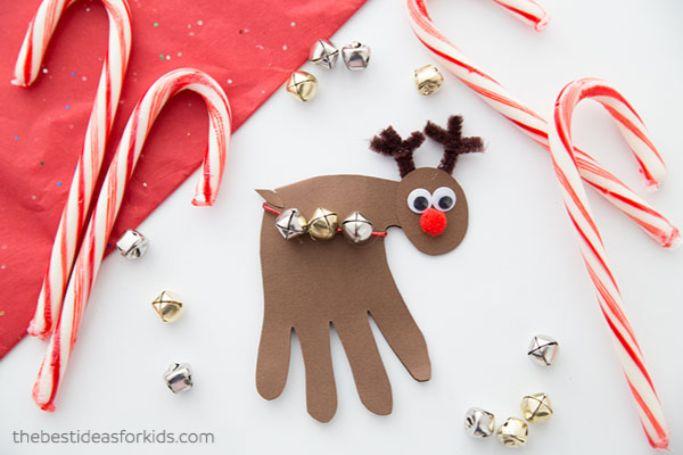 reindeer handprint