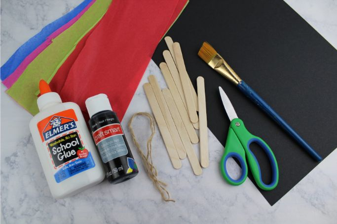supplies to make the stained glass ornaments