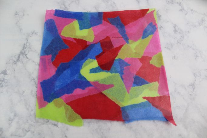 tissue paper on contact paper