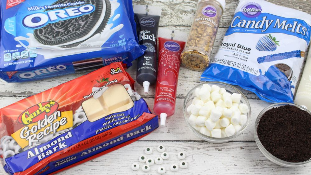 Ingredients and supplies for Presidents Day Oreos