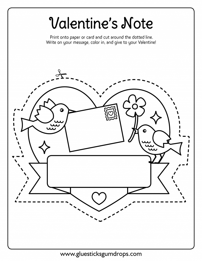Love Birds Valentine's Day Coloring Sheet