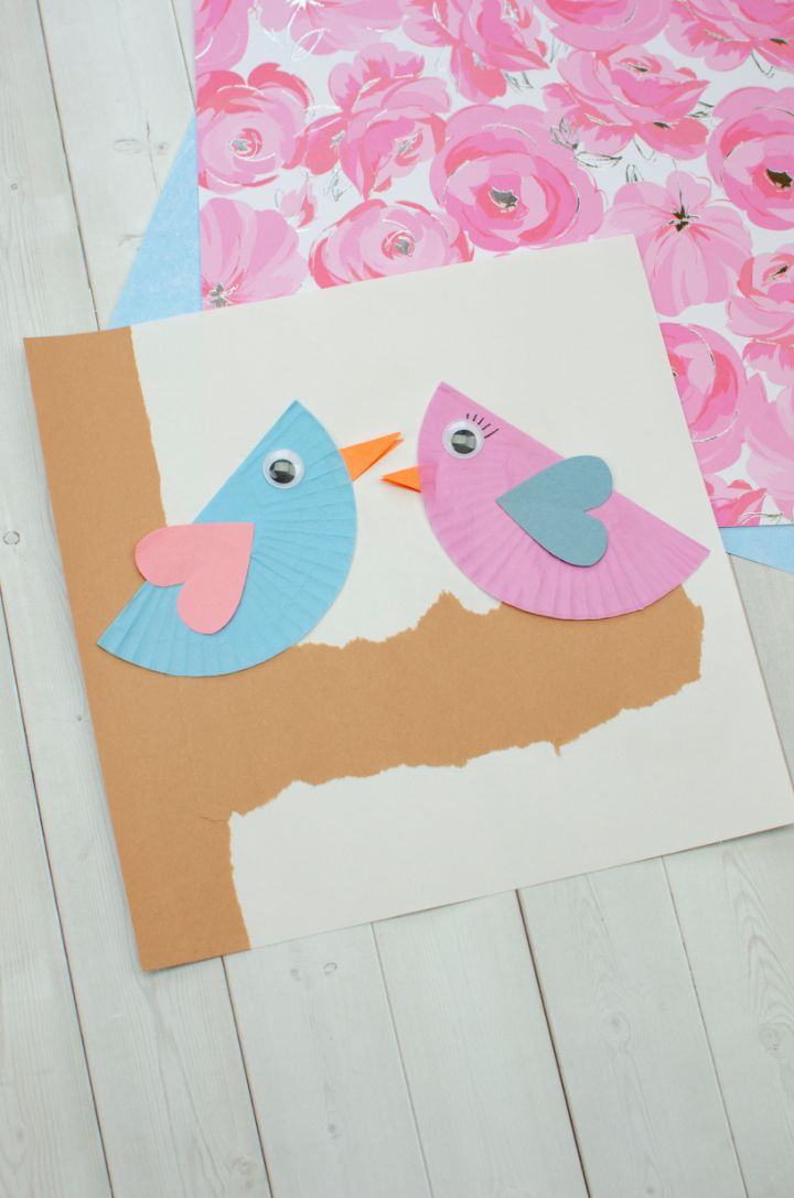 Love Birds Cupcake Liner Craft