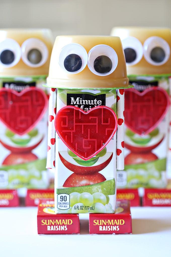robot snack valentines