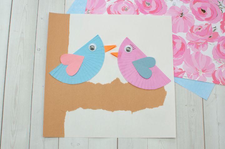 finished love birds craft horizontal