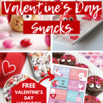 valentines day snacks for kids with printable promo