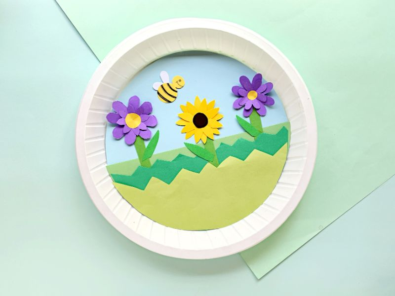 completed spring paper plate craft