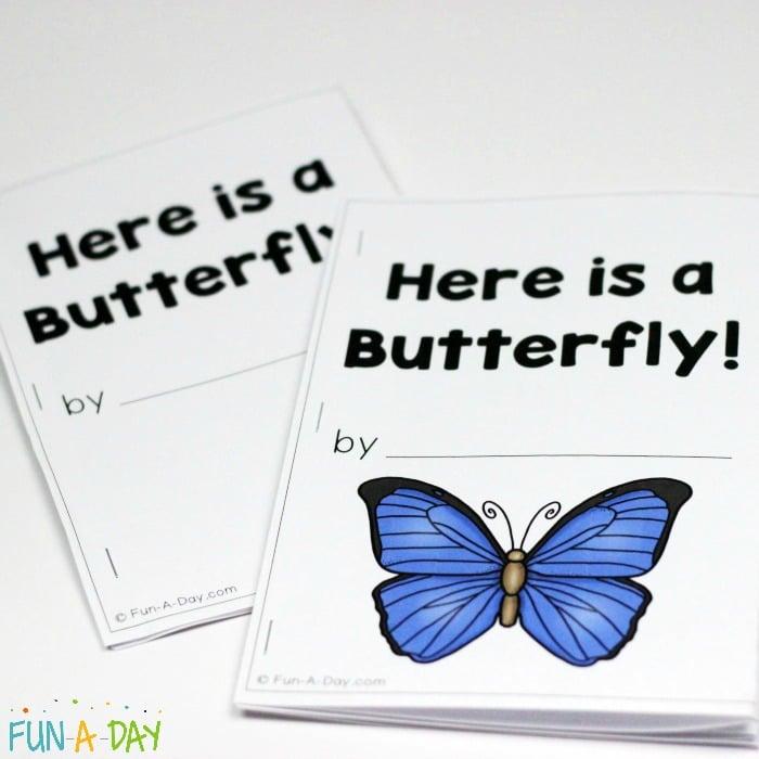 butterfly emergent reader