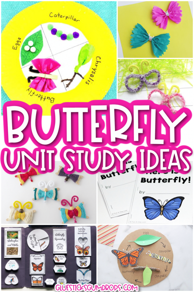Butterfly Unit Study Collage