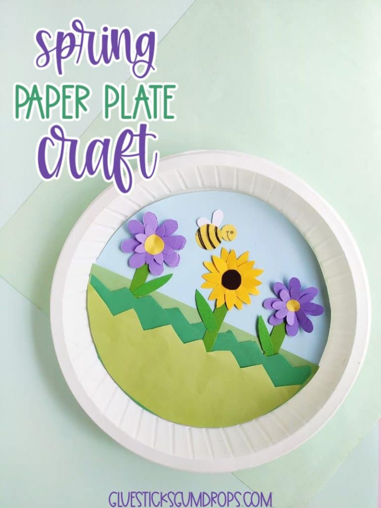 garden paper plate craft for spring