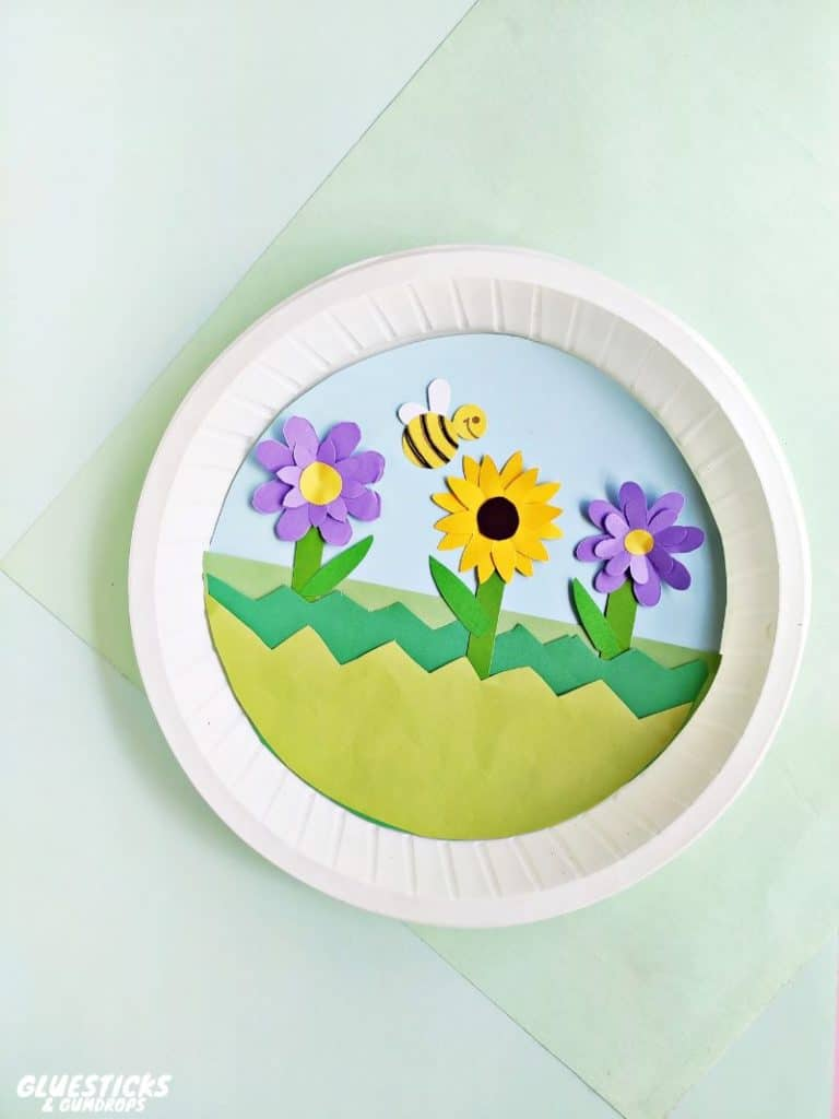 Cute Flower Garden Paper Plate Craft for Spring