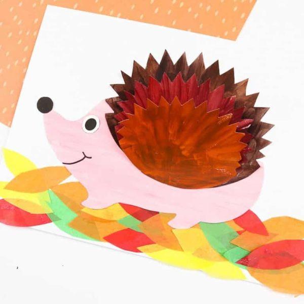 3d hedgehog by arty crafty kids