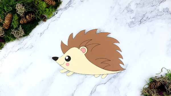 cut and paste hedehog art by simple mom project