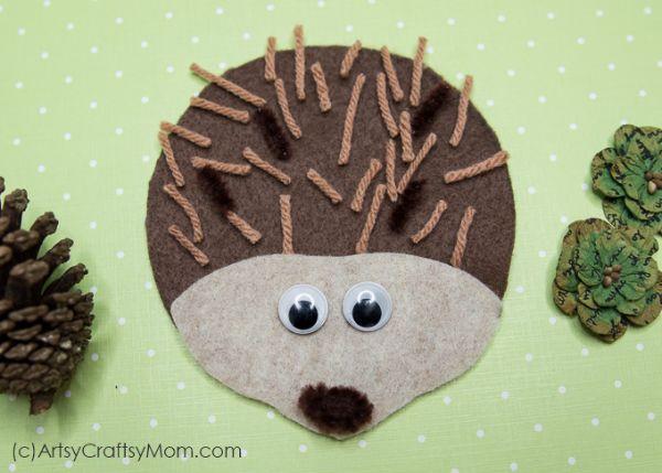 felt hedgehog by artsy craftsy mom