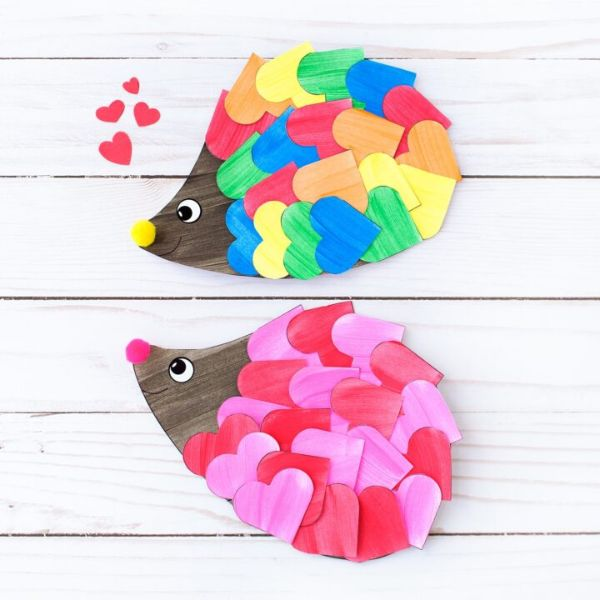 heart hedgehogs by fireflies and mud pies