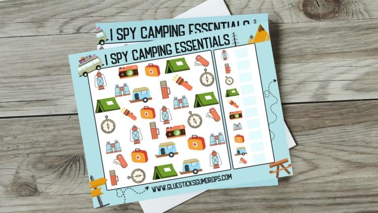i spy camping mockup