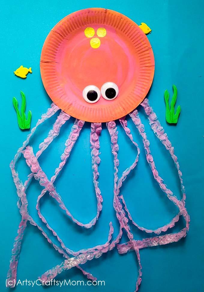 octopus paper plate craft