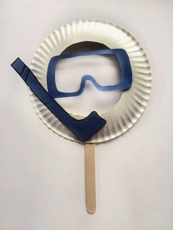 scuba mask paper plate craft for kids
