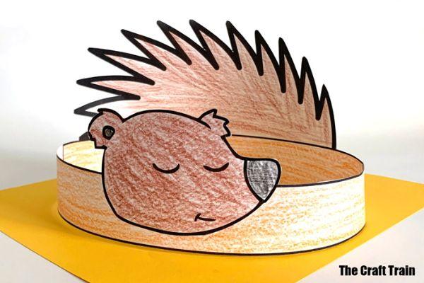 hedgehog headbands by the craft train