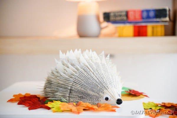 book paper hedgehog by diy n crafts