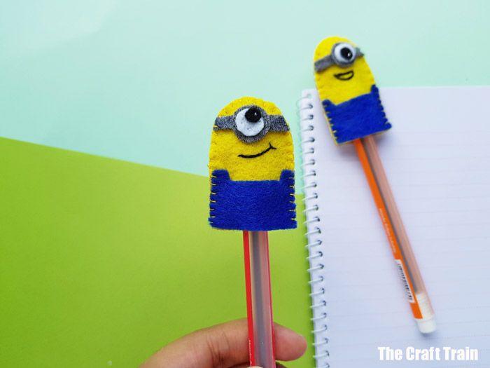 cute minion pencil toppers